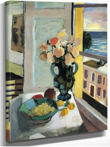Flowers In Front Of A Window 1922 By Henri Matisse