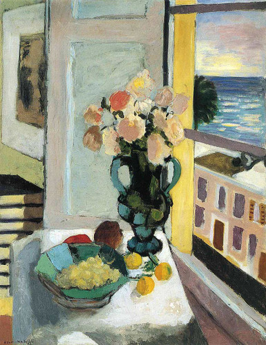 Flowers In Front Of A Window 1922 By Henri Matisse Art Reproduction from Wanford