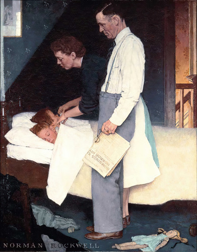 Freedom From Fear 1943 By Norman Rockwell