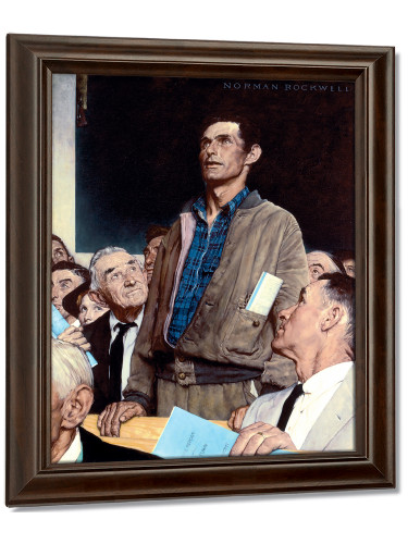 Freedom Of Speech 1943 By Norman Rockwell