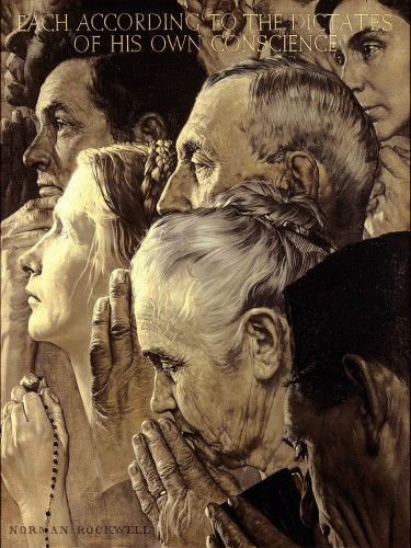 Freedom To Worship 1943 By Norman Rockwell