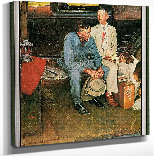 Breaking Home Ties 1954 By Norman Rockwell Art Reproduction from Wanford.