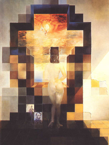 Gala Contemplating The Mediterranean Sea Which At Eighteen Metres Becomes The Portrait Of 1976 By Salvador Dali Art Reproduction from Wanford