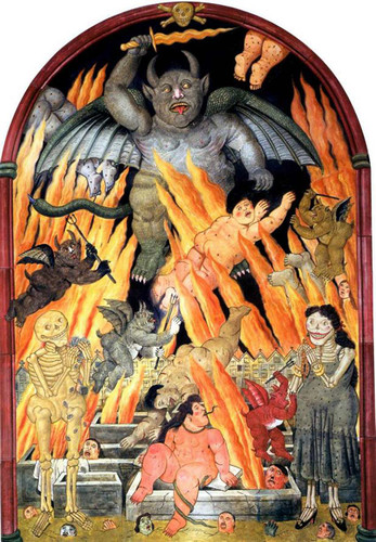 Gate Of Hell By Fernando Botero Art Reproduction from Wanford