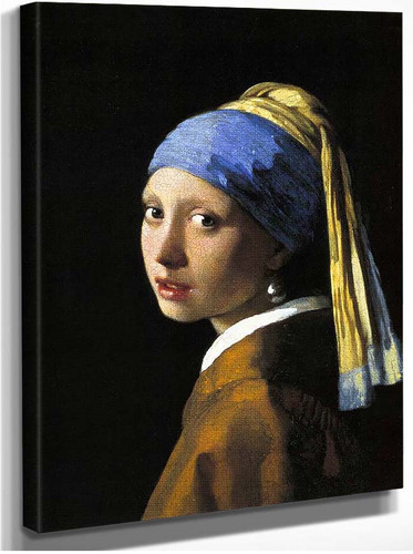 Girl With A Pearl Earring By Vermeer Johannes