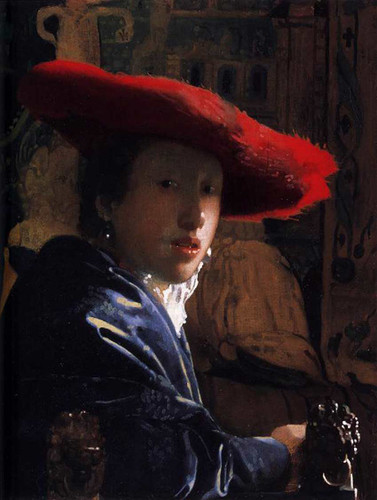 Girl With A Red Hat By Vermeer Johannes Art Reproduction from Wanford