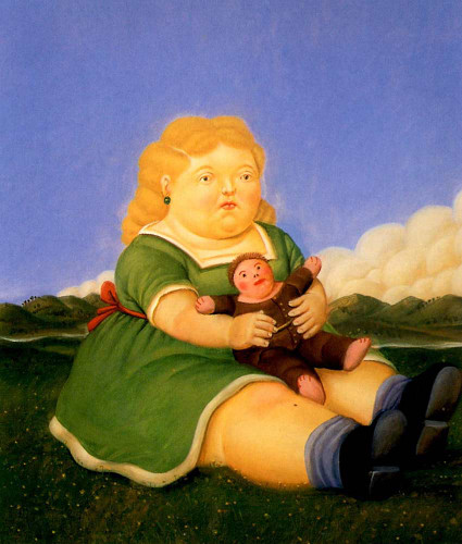 Girl With Puppet By Fernando Botero Art Reproduction from Wanford