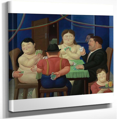 Card Players Aka Jugadoras De Cartas Ii By Fernando Botero Art Reproduction from Wanford.