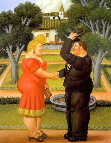 Good Morning By Fernando Botero Art Reproduction from Wanford