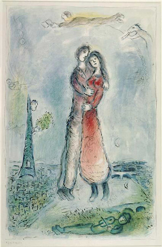 Happiness 1980 By Marc Chagall Art Reproduction from Wanford