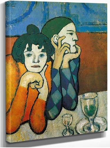 Harlequin And His Companion By Pablo Picasso
