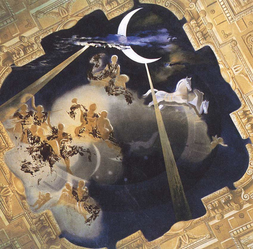 Ceiling Of The Hall Of Gala S Chateau At Pubol By Salvador Dali Art Reproduction from Wanford.