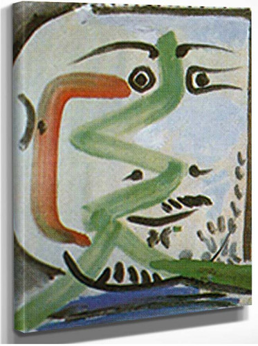 Head Of A Man By 1 By Pablo Picasso