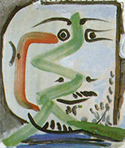 Head Of A Man By 1 By Pablo Picasso Art Reproduction from Wanford