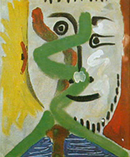 Head Of A Man By 3 By Pablo Picasso Art Reproduction from Wanford