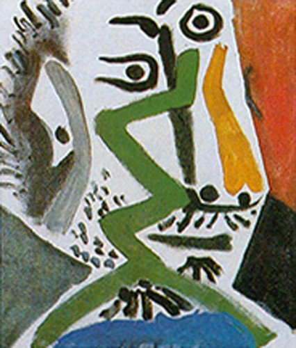Head Of A Man By Pablo Picasso Art Reproduction from Wanford