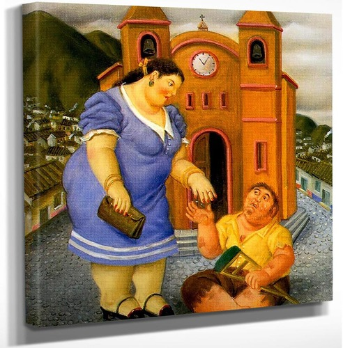 Charity By Fernando Botero Art Reproduction from Wanford.