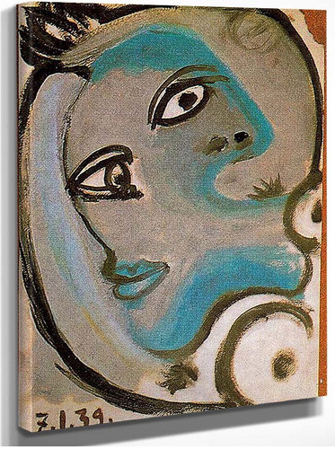 Head Of A Woman 1939 By Pablo Picasso