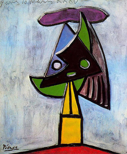 Head Of A Woman Olga Picasso 1935 By Pablo Picasso Art Reproduction from Wanford