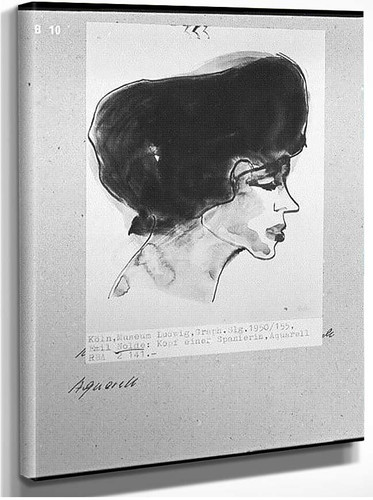 Head Of Spanish Woman By Emil Nolde