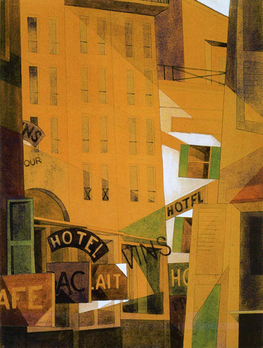 Hotel By Charles Demuth Art Reproduction from Wanford