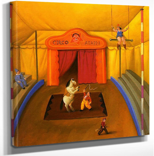 Circus Interior By Fernando Botero Art Reproduction from Wanford.