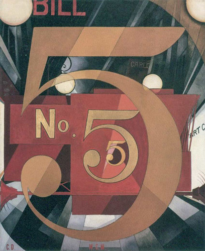 I Saw The Figure 5 In Gold By Charles Demuth Art Reproduction from Wanford