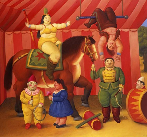 Circus People Aka Gente Del Circo2 By Fernando Botero Art Reproduction from Wanford.