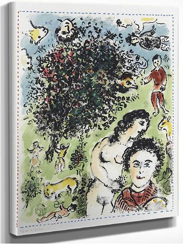 In The Garden 1984 By Marc Chagall