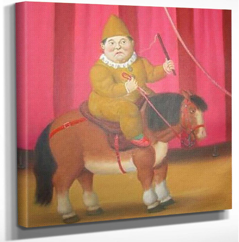 Clown On A Horse By Fernando Botero Art Reproduction from Wanford.