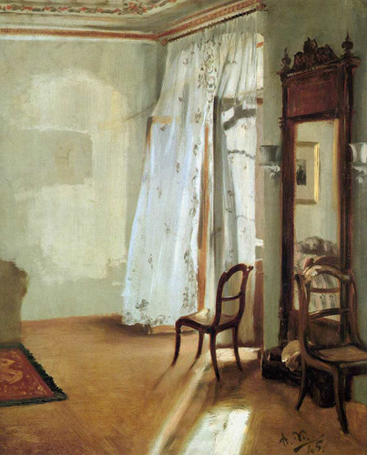 Interior Of A Room With Balcon By Menzel Adolph Von Art Reproduction from Wanford