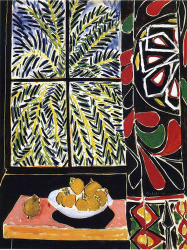 Interior With Egyptian Curtain 1948 By Henri Matisse Art Reproduction from Wanford