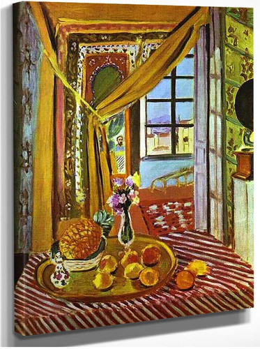 Interior With Phonograph By Henri Matisse