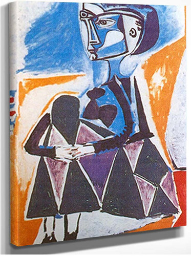 Jacqueline In A Crouch By 1 By Pablo Picasso