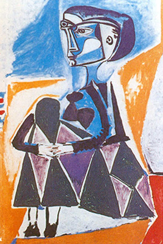 Jacqueline In A Crouch By 1 By Pablo Picasso Art Reproduction from Wanford