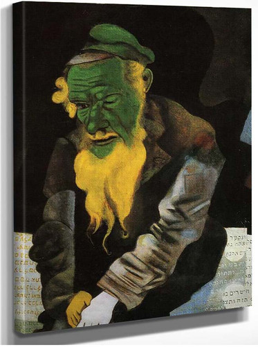 Jew In Green 1914 By Marc Chagall
