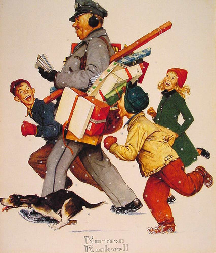 Jolly Postman By Norman Rockwell Art Reproduction from Wanford