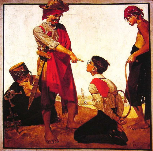 Cousin Reginald Plays Pirate 1917 By Norman Rockwell Art Reproduction from Wanford.