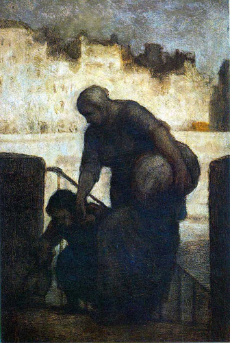 Laundress On The Quai Danjou By Daumier Honore Art Reproduction from Wanford