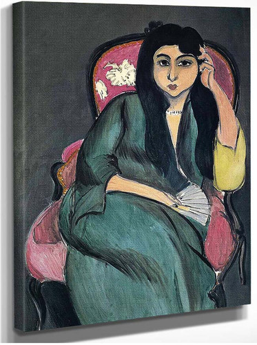 Laurette In Green In A Pink Chair 1917 By Henri Matisse