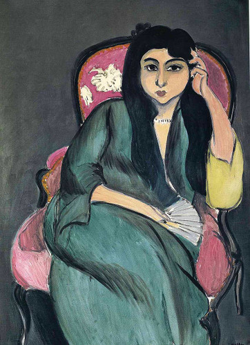 Laurette In Green In A Pink Chair 1917 By Henri Matisse Art Reproduction from Wanford