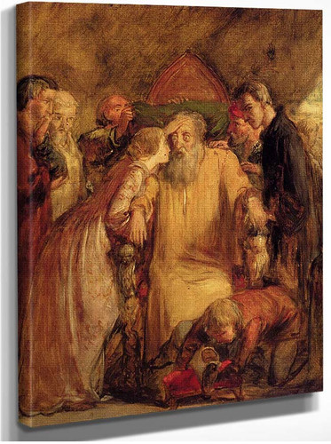 Lear And Cordelia By John Everett Millais