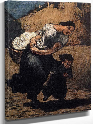 Load Washerwoman By Daumier Honore