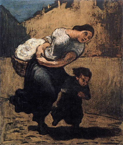 Load Washerwoman By Daumier Honore Art Reproduction from Wanford