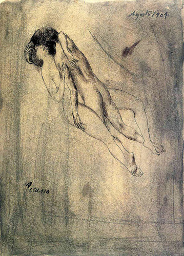 Lovers 1904 By Pablo Picasso Art Reproduction from Wanford