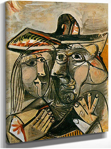 Man And Woman By 3 By Pablo Picasso