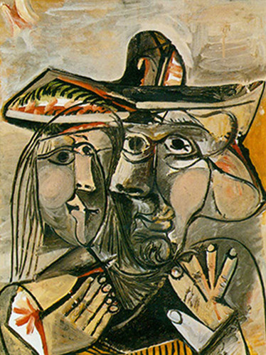 Man And Woman By 3 By Pablo Picasso Art Reproduction from Wanford