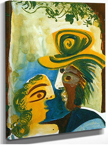 Man And Woman By Pablo Picasso