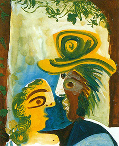 Man And Woman By Pablo Picasso Art Reproduction from Wanford
