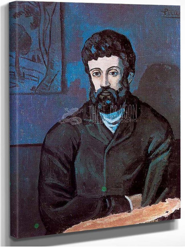 Man In Blue By Pablo Picasso